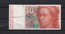 SUISSE Switzerland Billet de 10 franken de 1979/1992 P. N° 53 plis