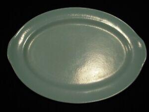 Prizer Ware Oval Turquoise Enameled Cast Iron Steak Platter - Model SP-2