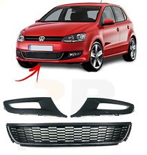 FOR VW POLO 6R 09-14 FRONT BUMPER LOWER RIGHT + CENTRE + LEFT GRILLE PAIR SET