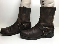 *1 VTG WOMENS FRYE SQUARE TOE HARNESS MOTORCYCLE BROWN BOOTS SIZE 8 M