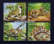 1995 Malaysia WWF Panda Logo Animals Clouded Leopard 4v Stamps Mint Not Hinged