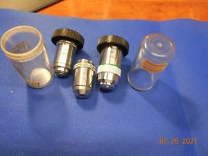LEITZ MICROSCOPE OBJECTIVES LOT OF 3