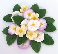 Edible Spring Pansies & Primroses Bouquet Sugar Flowers Cake Decorations Toppers