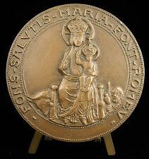 Médaille Religieuse la Vierge Marie & Jesus citation flamme olympique 85mm Medal