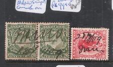 Niue Manuscript Cancels On New Zealand Stamps, Pair & Single VFU (9dke)