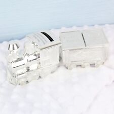 Personalised Money Box Train Christening Gift Baby Boy Tooth Hair Trinket Box