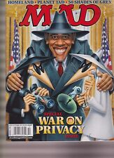 MAD MAGAZINE #523 OCT 2013, WAR ON PRIVACY ISSUE NO LABEL.