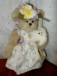 The Bearington Collection 2006 Prissy & Pup Plush Collector Bear #1642 w Stand