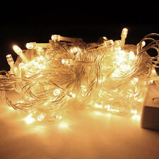32ft 100 LED Warm WHITE String Fairy Lights Party Christmas Decor Outdoor Indoor