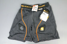 Shock Doctor 361 Core Loose Hockey Shorts With Bioflex Cup, Boys Large, Grey