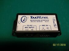 Used Untested Touch Tunes Microphone Interface 700-166-001 Rev 1
