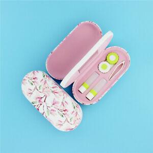 Pink Magnolia Glasses Case Hard Eyewear Case Protector Box Contact Lens Case