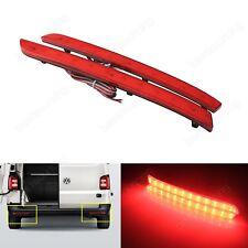 Kit Rouge Pare-chocs Réflecteur LED Feu Arrière Lampe 2012+ VW Transporter T5 T6
