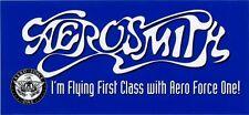 Aerosmith Fan Club Sticker I'm Flying First Class with Aero Force One!
