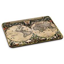 VINTAGE ANCIEN CARTE DU MONDE 1 TAPIS DE SOURIS PC ORDINATEUR Rond Globes Rétro
