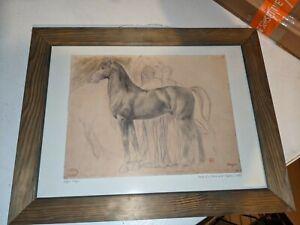 "Edgar Degas ""Study of a Horse with Figures"" Framed Print 1861"