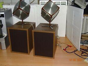 Grundig Würfelboxen Kugelstrahler 700 mit Bass Box 402  Vintage Audio