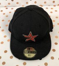 Youth Kids Houston Astro Black Red New Era Baseball Cap Hat Size 6 5/8