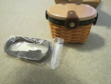 Longaberger Collectors Club Small Saddlebook Purse basket with protector New