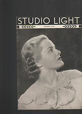 Studio Light Magazine Photography Eastman Kodak August 1936 Beautiful Woman