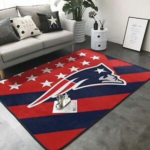 New England Patriots Rug Area Rug Anti-Slip Floor Mat Carpet Living Room Bedroom