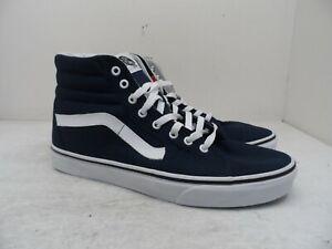 VANS Men's Sk8-Hi Skateboarding Athletic Casual Shoes Navy Size 12M