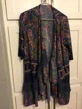 Womens Kimono Multi Color Bobo Style Layer Design Plus - 2X Sweater