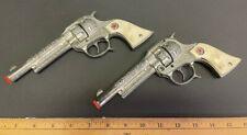 Hubley Texan Jr Cap Guns - Vintage 1940's Set of 2 Great Condition