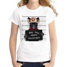 Damen Frauen Kurzarm T-Shirt Sommer Oberteil Shirts mit lustigen motiven