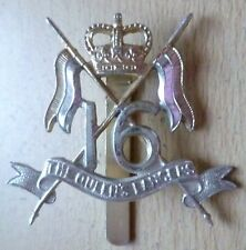 Staybrite The 16th Queens Lancers Cap Badge QC maker DOWLER Anodised