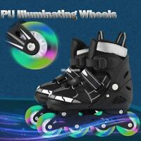 Unisex Inline Skate Rollerblade Roller Blades Boots Adjustable Flash Wheel