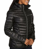 Spyder Timeless Down Hooded Jacket Women's Black Size Uk 10 (S) *REF88