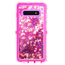Defender Glitter Case For Samsung Galaxy S10+ plus fit Otterbox Clip Hot Pink