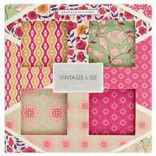 Vintage & Co Fabrics and Flowers Bath Fizz x 4