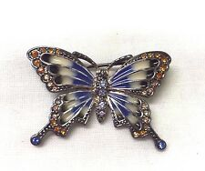 Vintage Signed Monet Butterfly Brooch Pin
