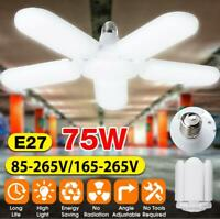 75W E27 5 Blades LED 10000LM Garage Lights Deformable Ceiling Light Fixture Lamp