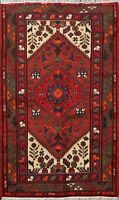 Geometric Traditional Hand-knotted Tribal Hamedan Area Rug  3'x5' Wool Carpet