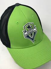 MLS Seattle Sounders Adidas Climalite Flex Fitted Green with Black Mesh Hat S/M