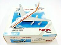 Herpa Wings 1:500 511759 Das Air Cargo B707-338C 5X-JEF - Diecast Aircraft Model