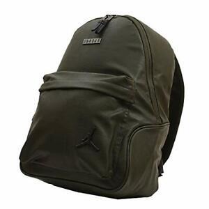 "Jordan Nike AIR Jumpman Basketball Olive Green Canvas  Backpack 16.5""x13""x4"""