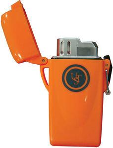 UST STORMPROOF FLOATING Butane LIGHTER Waterproof Windproof Survival Gear Orange