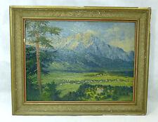 XXXL Immagine Quadro a olio dipinto Friburgo BREISGAU circa 1900-1920 b-44172