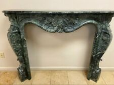 Beautiful French Style Hand Carved Marble Fireplace Mantel Surround
