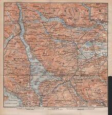 1910 BAEDEKER ANTIQUE MAP- UK-SCOTLAND-LOMOND,CALLANDER,LENNOXTOWN,HELENSBURGH