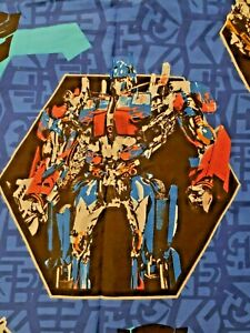 Transformers Pictorial Twin Flat Sheet Autobots Optimus Prime Bumble Bee