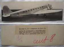 FOTO AVIAZIONE AEREO BIMOTORE FIAT G 18 - ANNO 1937 - ORIGINALE