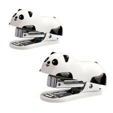 Cute Panda Office Student Small Mini School Home Stapler Staples Set Plastic