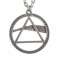 PINK FLOYD DARK SIDE OF THE MOON PENDANT Alchemy Rocks Pewter Necklace OFFICIAL