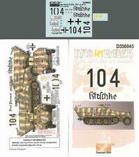 Echelon FD D356045, 1/35 Autocollants Pour Das Reich Sd. Kfz. 251/3 Ausf D en Normandie