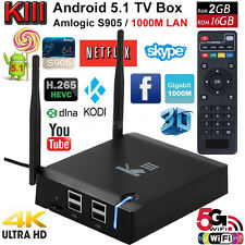 KIII K3 TV Box Media Player Android 5.1 2GB+16GB Dual WiFi 5G LAN US Supply NEW